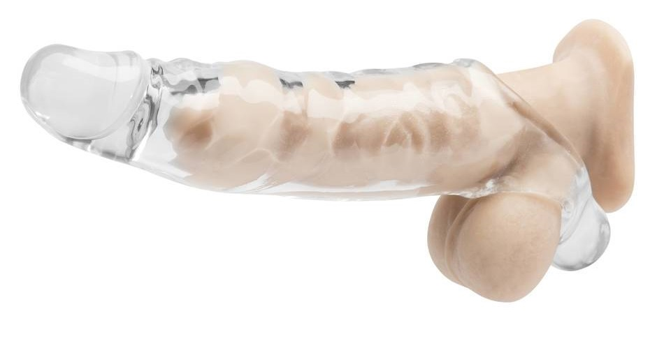 dildo with penis sleeve on it
