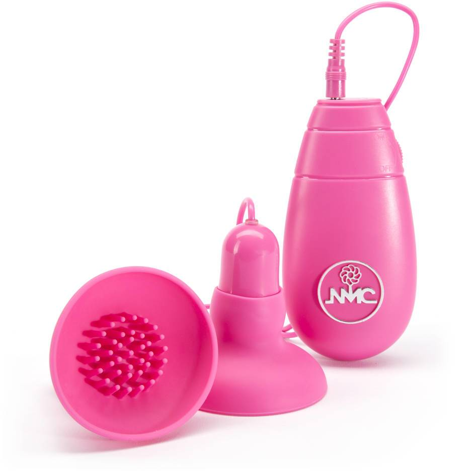 Pink vibrating silicone nipple and clit teasers