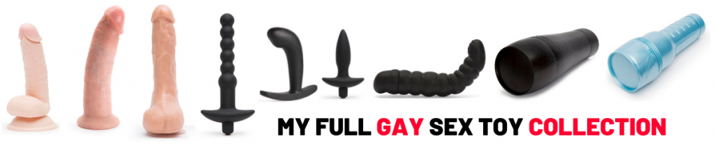 collection of different gay sex toys