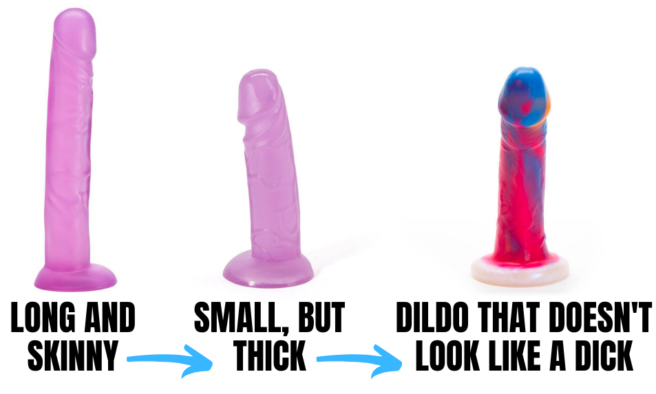 different types of dildos