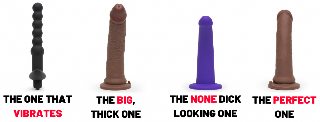 different types of anal dildos