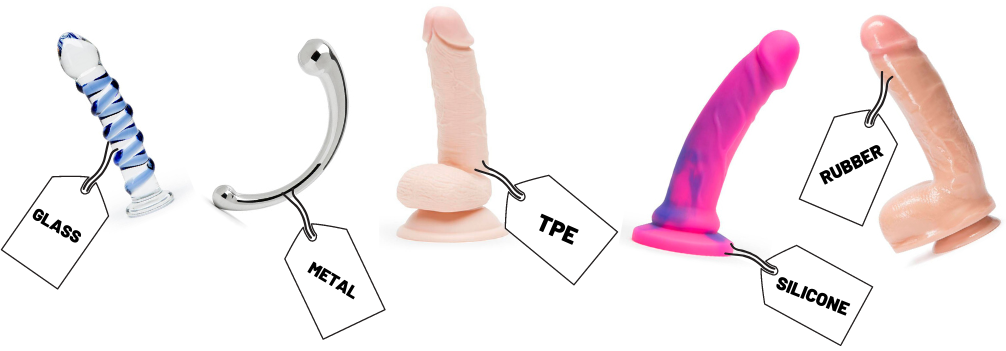 material dildos are made of