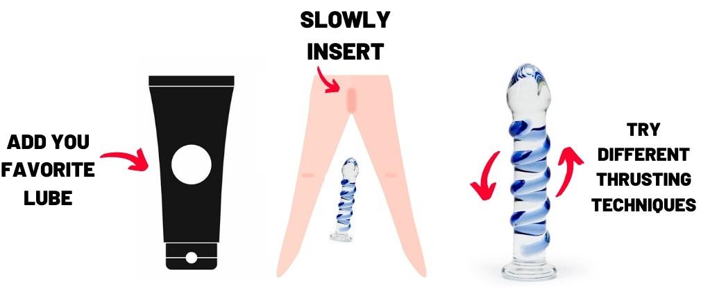 guide to using a glass dildo
