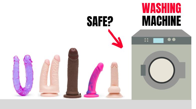 cartoon washing machine cleaning dildos