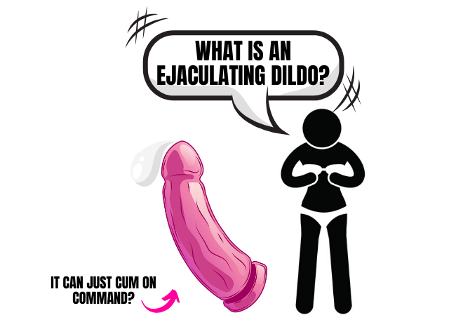 cartoon of squirting dildo squirting cum