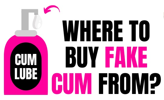 cartoon of fake cum lubrication