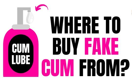 cartoon of fake cum lubrication