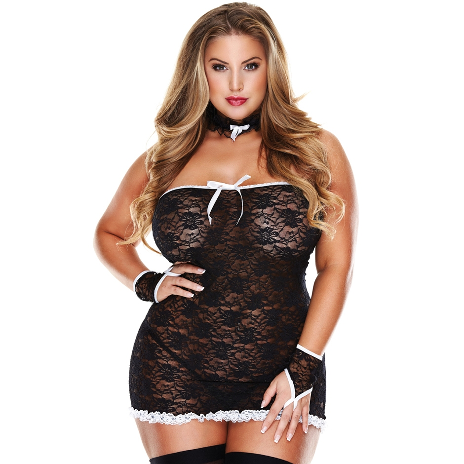 plus size maid costume