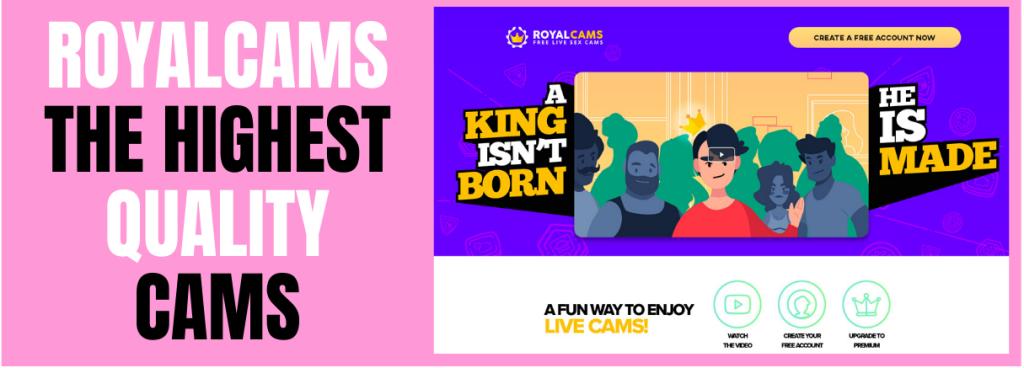 screenshot of royal cams