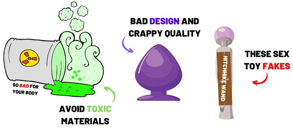 cartoon of toxic sex toys
