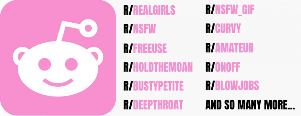 list of nsfw sub-reddits