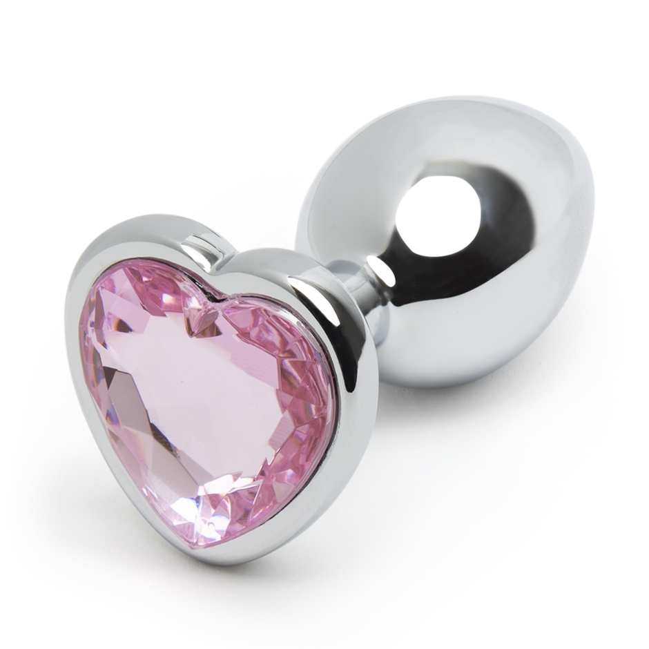 jewelled heart butt plug
