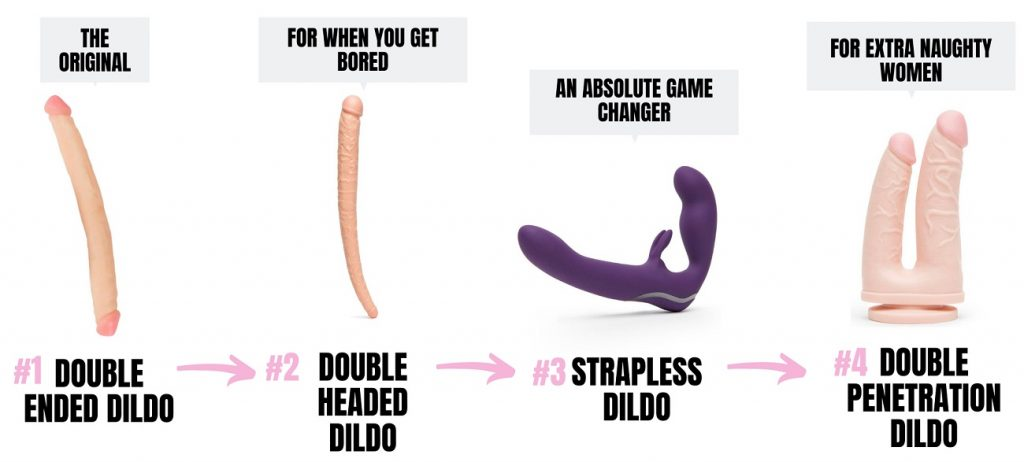 different types of double ended dildos