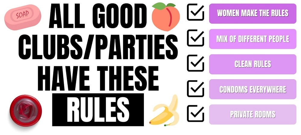 sex club and party rules